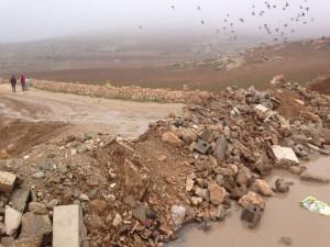 blockerad väg till Al Karmal, västbanken