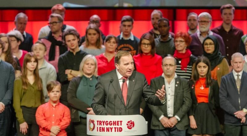 Stefan Löfven avslutade på onsdagen S-kongressen
